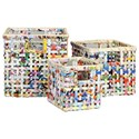 StyleCraft Accessories Set of 3 Square Nesting Baskets - Item Number: AV230018