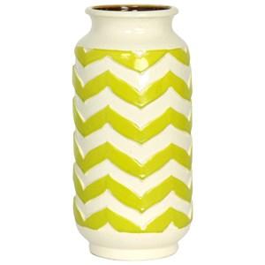 Chevron Striped Ceramic Vase