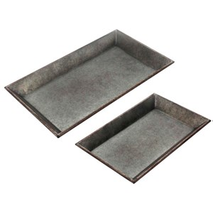 Accessories Set of 2 Metal Trays by StyleCraft