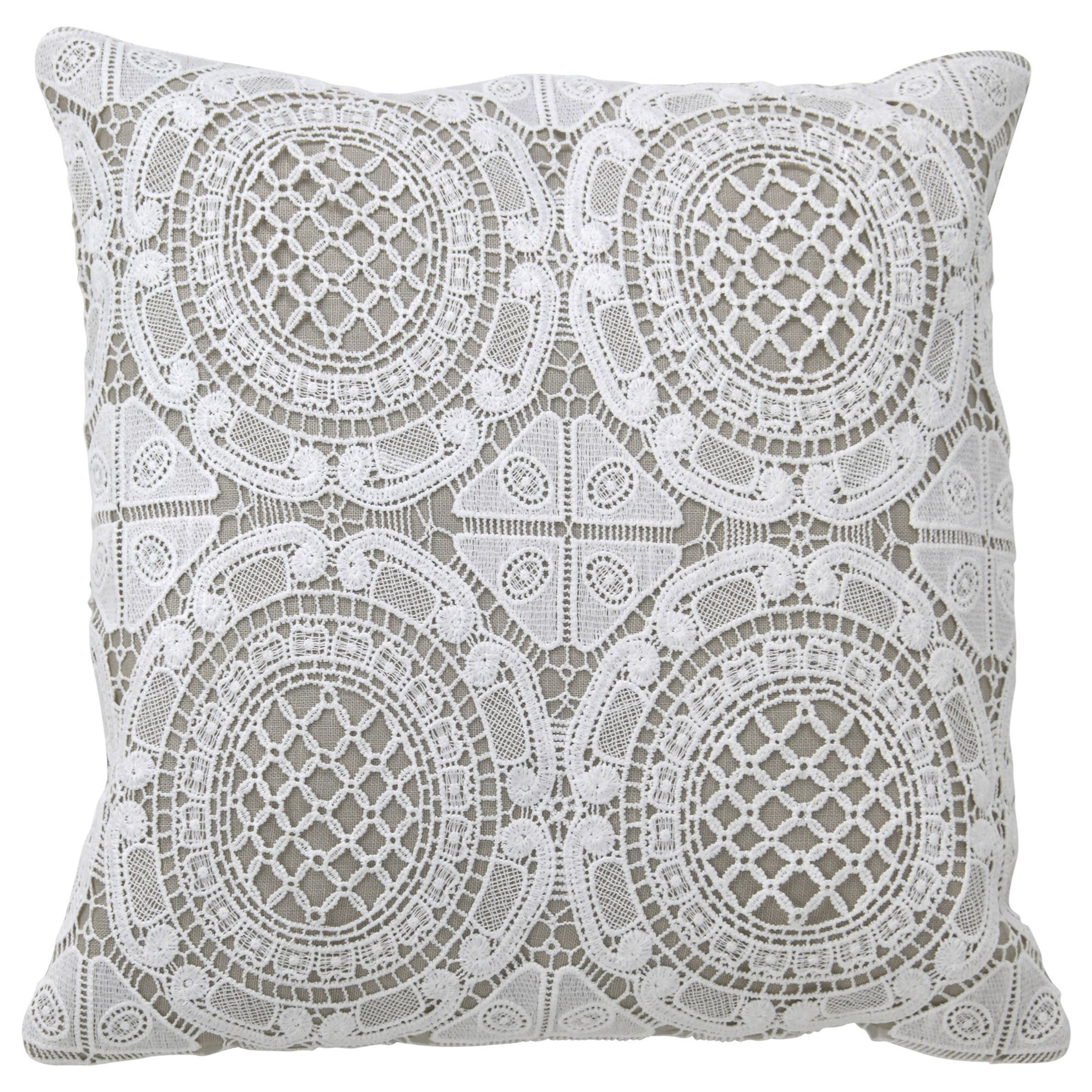 Gray/White Accent Pillow