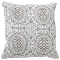 StyleCraft Accessories Gray/White Accent Pillow - Item Number: HFS20043