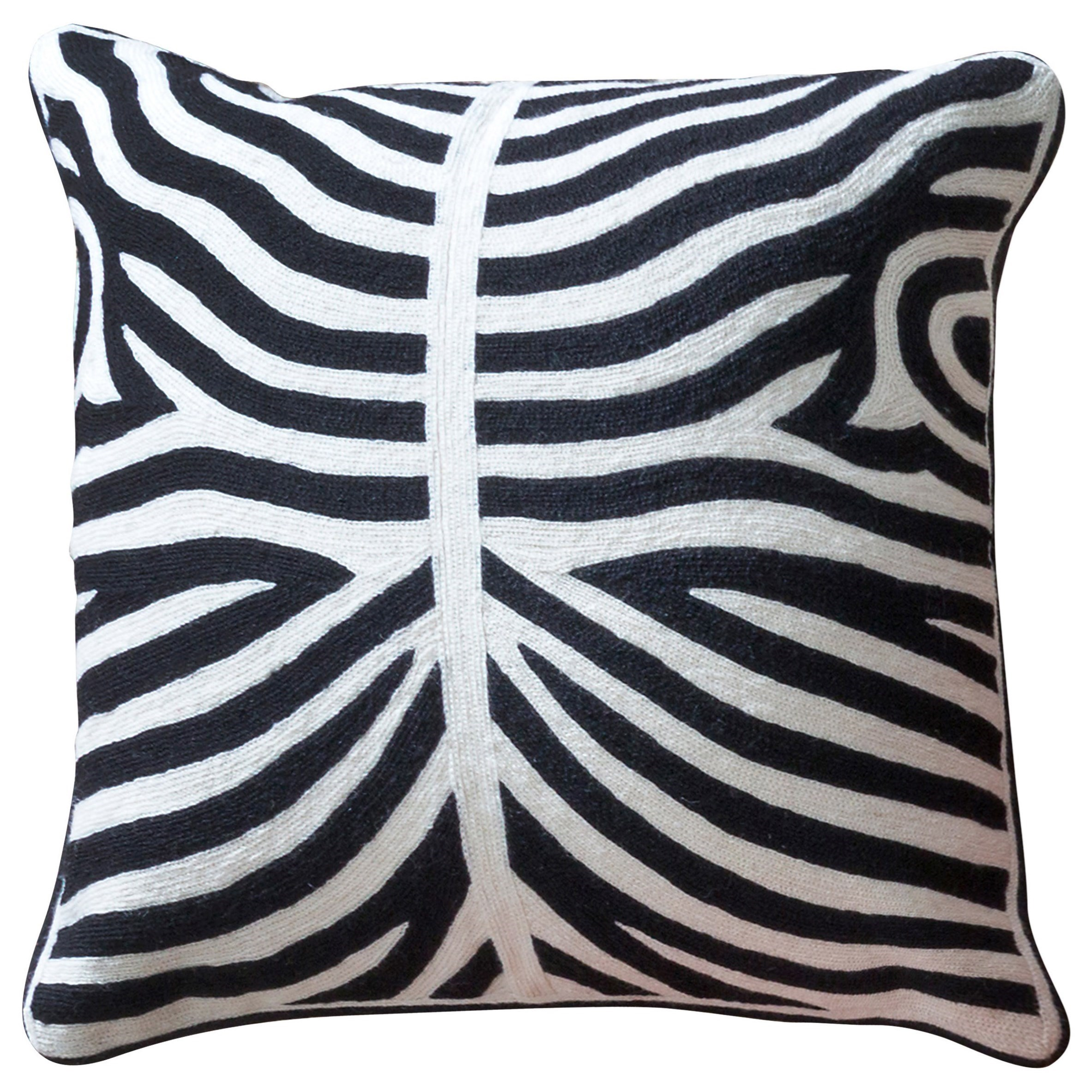Accessories Black and White Accent Pillow by StyleCraft at Alison Craig Home Furnishings