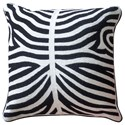 StyleCraft Accessories Black and White Accent Pillow - Item Number: HFS20056