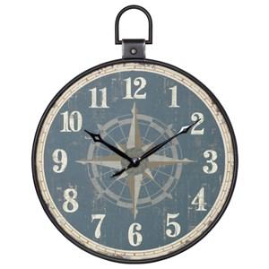 StyleCraft Clocks Aged Pocket Watch Style Wall Clock