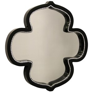 StyleCraft Mirrors Gloss Black Kathleen Mirror With Clear Glass