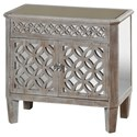 StyleCraft Occasional Cabinets Mirrored Filigree Chest - Item Number: SF24469