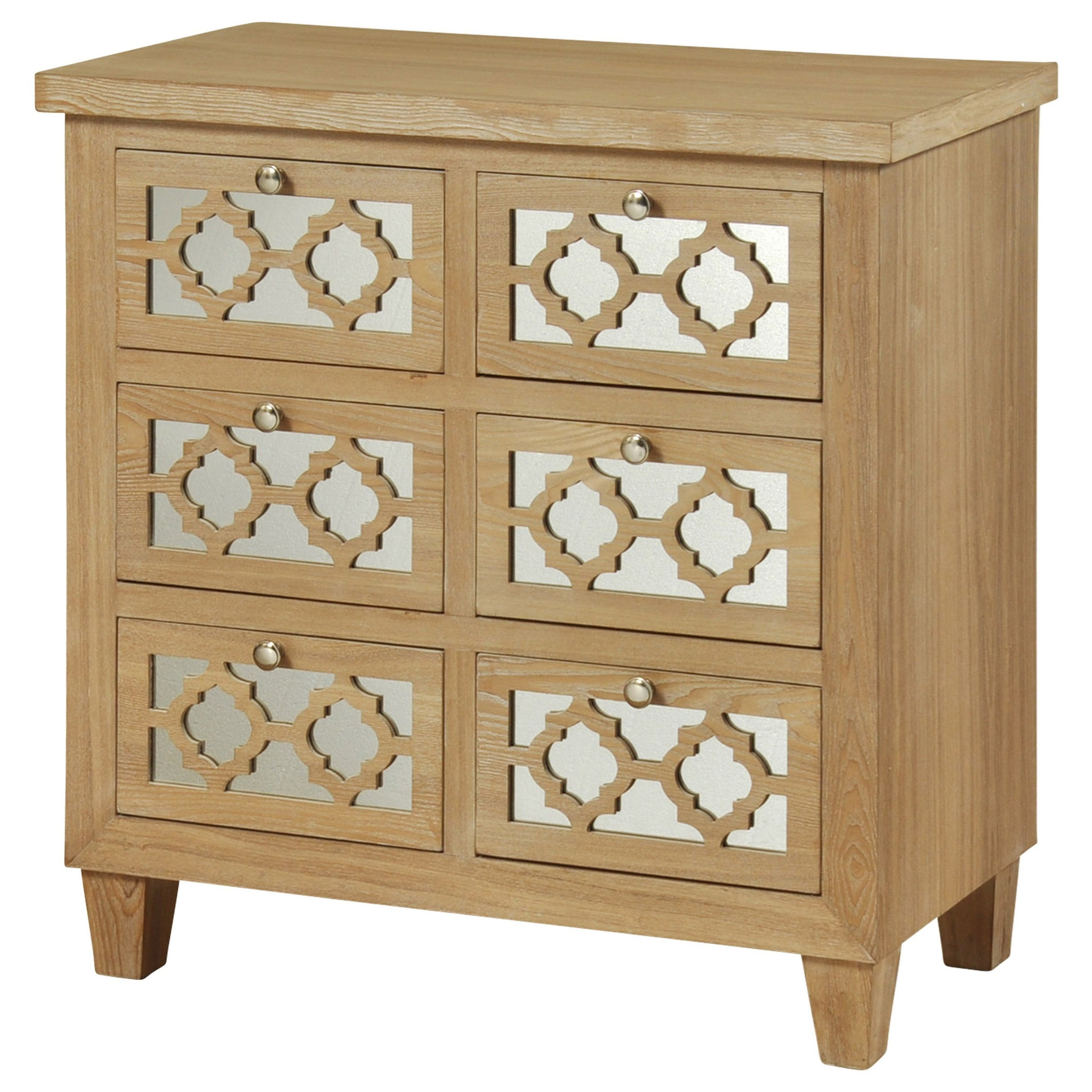 Stylecraft cabinets - Stylecraft Occasional Cabinets 6 Drawer Wood Grain Cabinet Item Number Sf24591