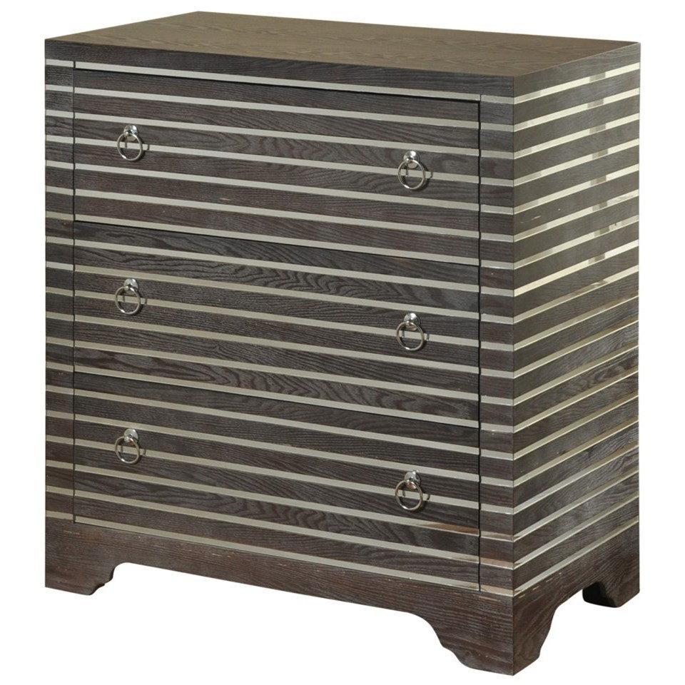 3 Drawer Chest with Mirror Inlay