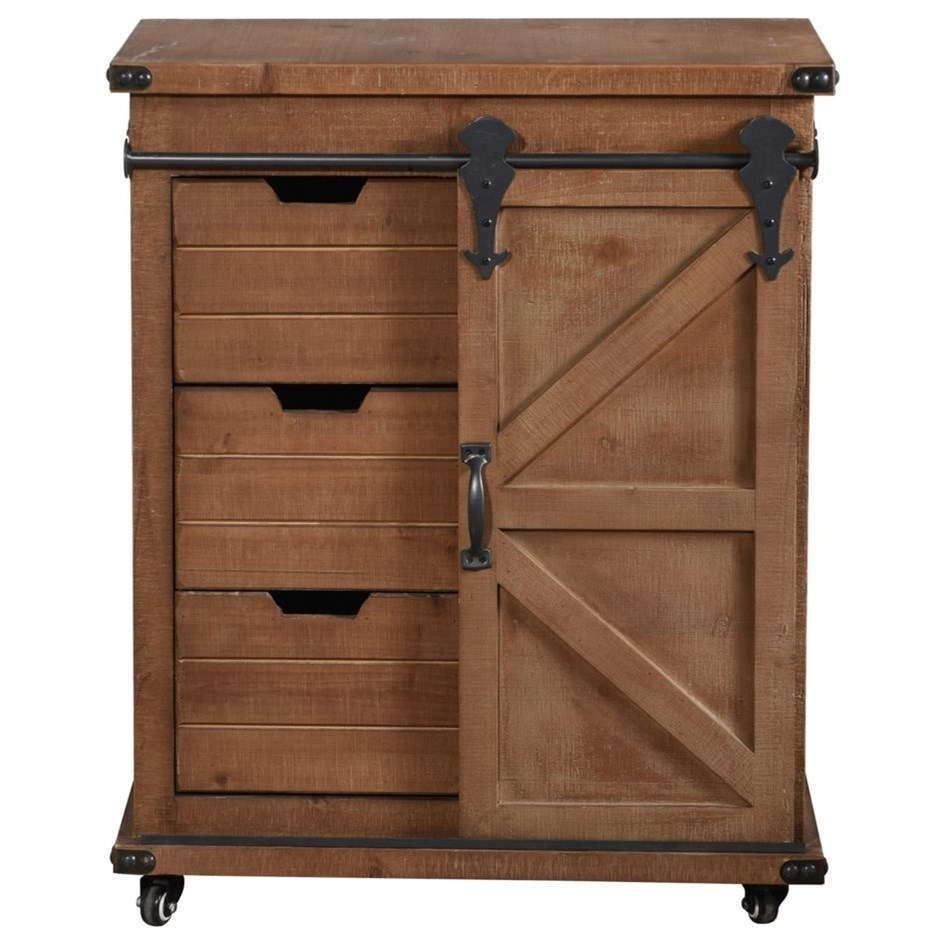 Graham Cabinet with Wheels
