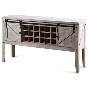 White Farmhouse Wine Storage Console