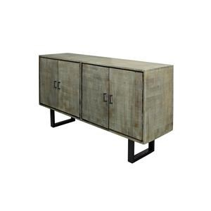 StyleCraft Occasional Cabinets Gray Textured Mango Wood Sideboard
