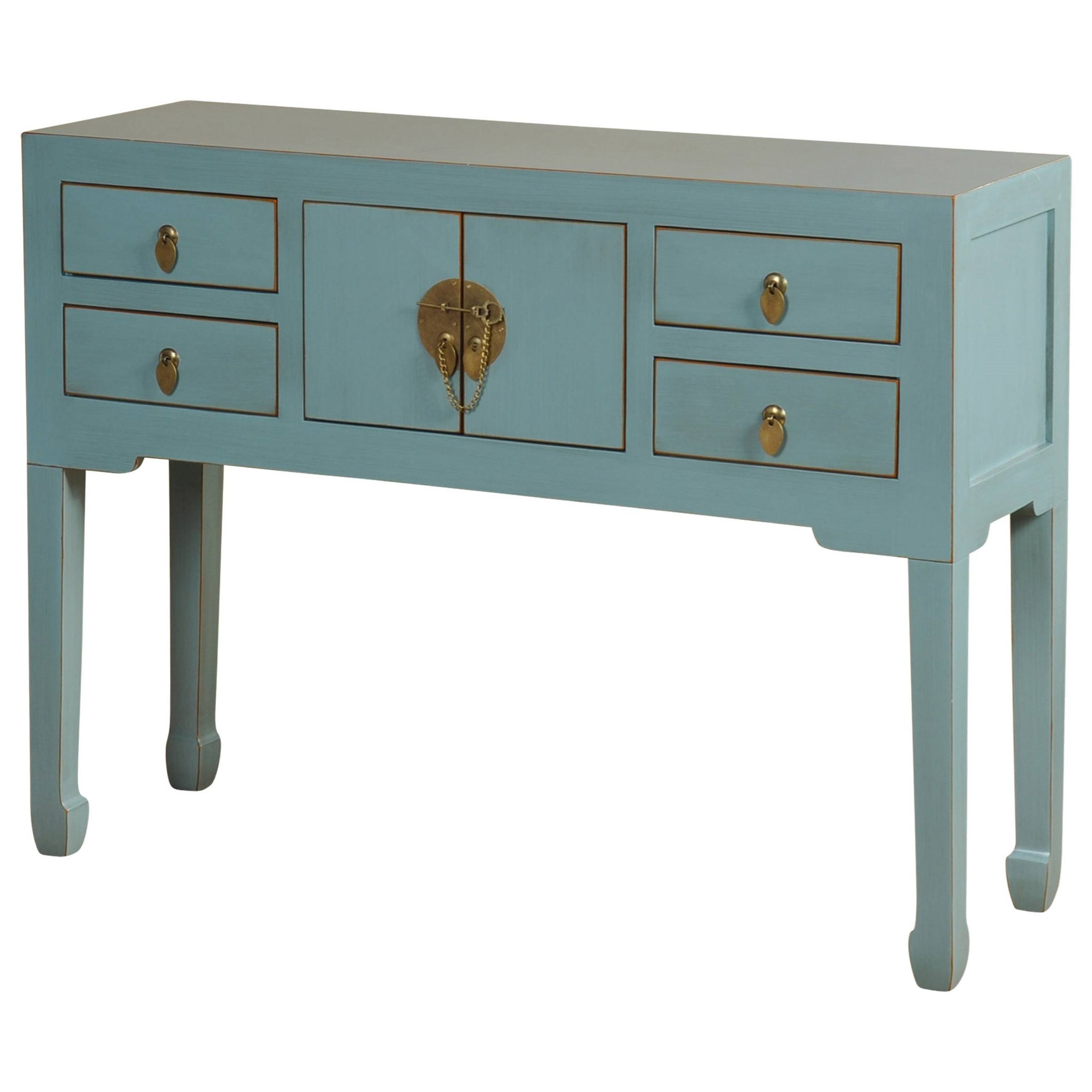StyleCraft Occasional Tables Blue Console Table - Item Number: SF2361