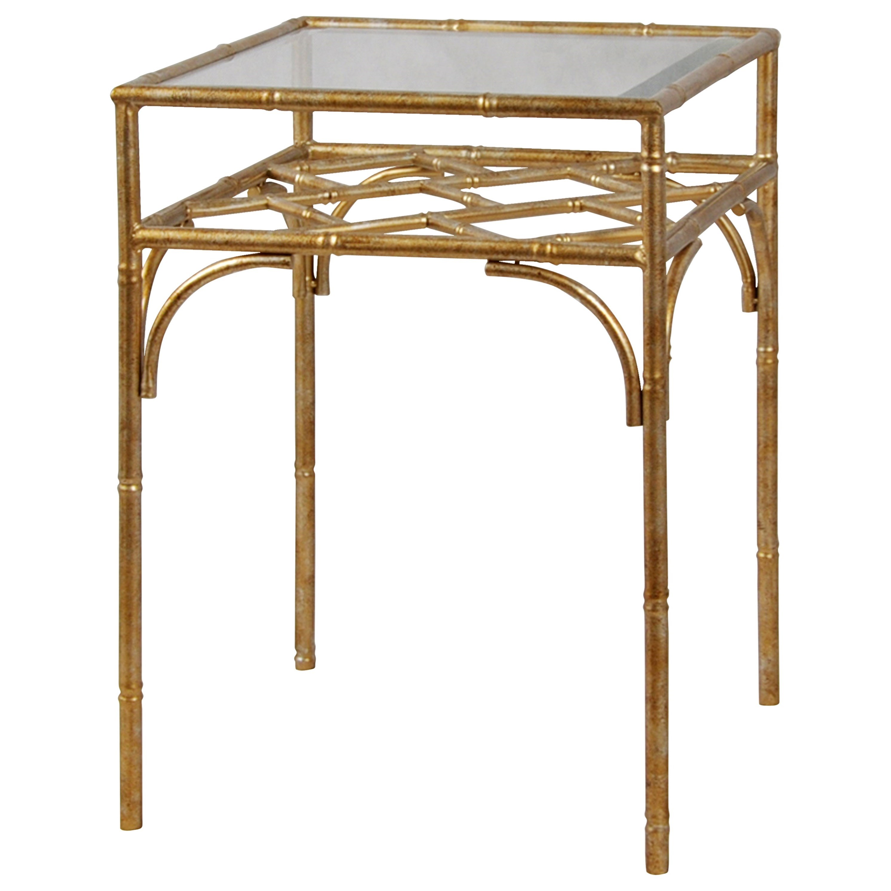 Brass Metal Accent Table