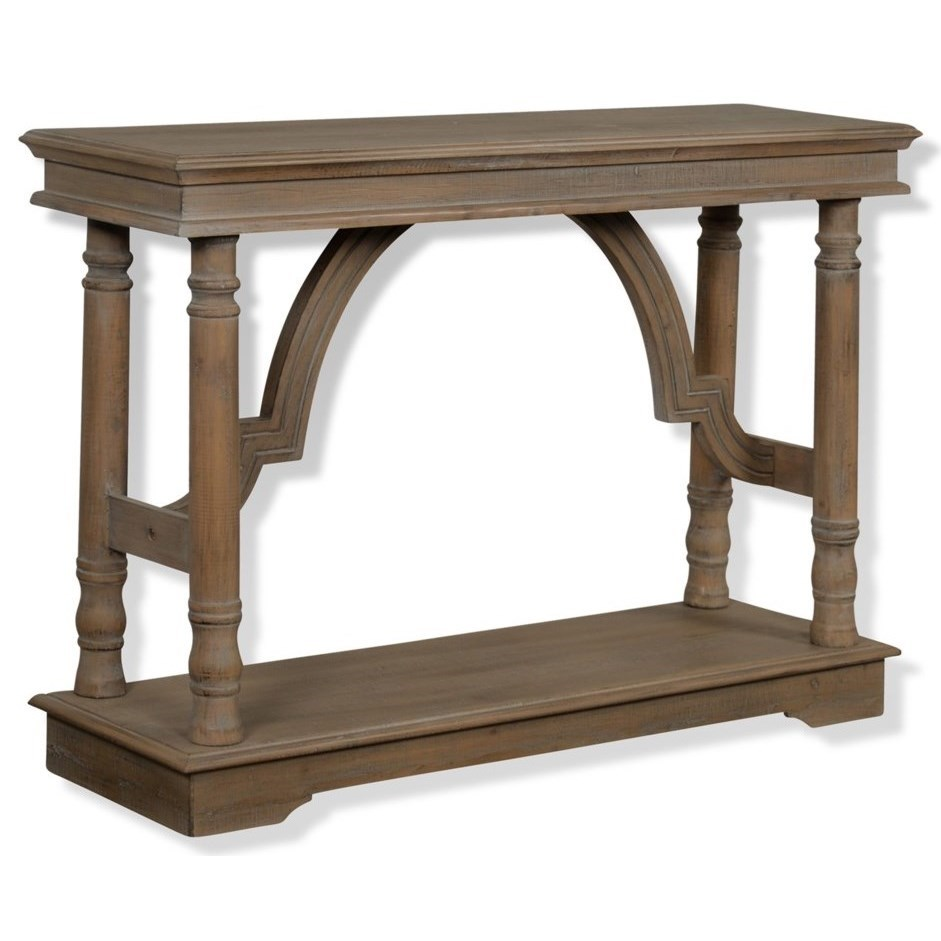 Weathered Wood Trestle Table