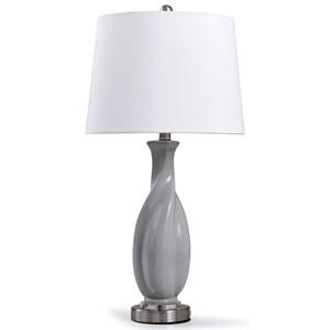Sculptural Grey Ceramic Lamp