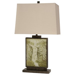 Landscape Motif Table Lamp