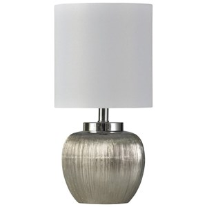Ceramic Silver Lamp