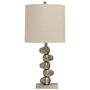 StyleCraft Lamps Brushed Steel Table Lamp