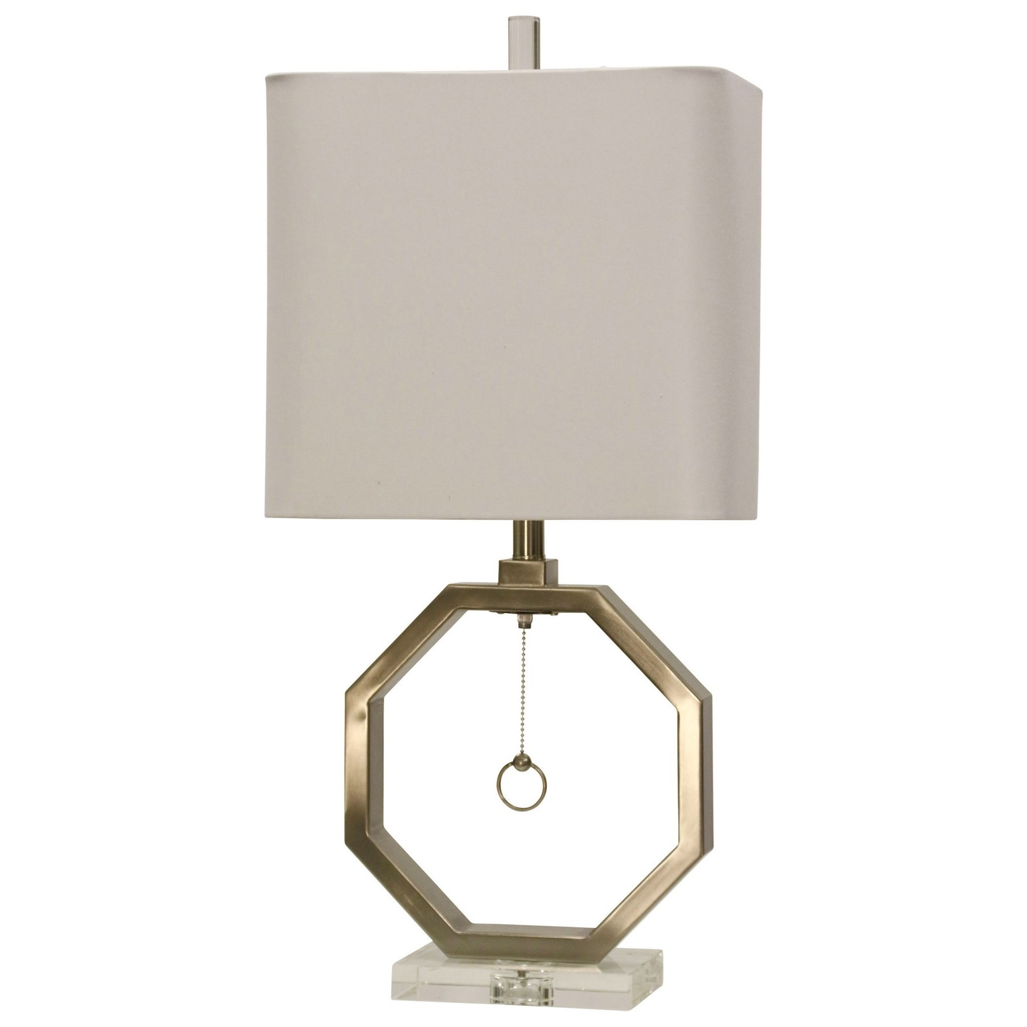 Brushed Steel Octagon Lamp