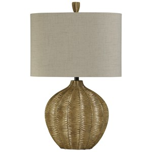 StyleCraft Lamps Hand Carved Contemporary Table Lamp
