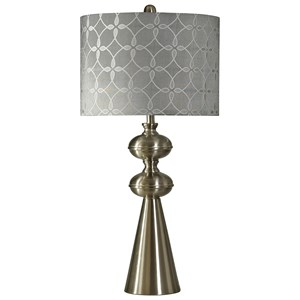 Transitional Brushed Steel Table Lamp