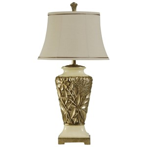 Hand Carved Traditional Table Lamp