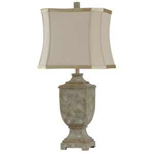 Square Urn Shaped Table Lamp