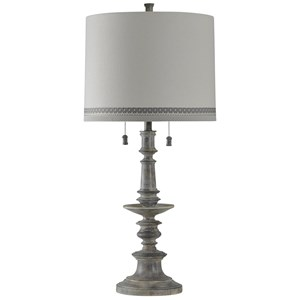 Washed Gray Table Lamp