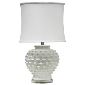 StyleCraft Lamps White Ceramic Table Lamp