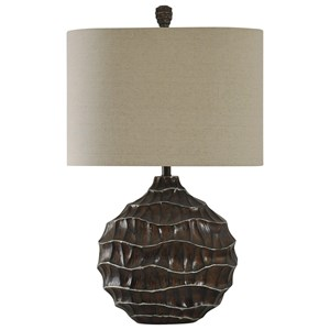 Ripple Effect Transitional Table Lamp