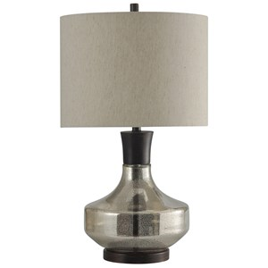 Mercury Glass & Metal Table Lamp