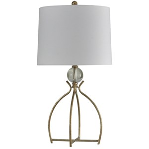 Valier Gold Metal Base Table Lamp