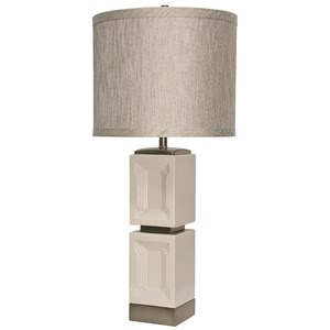 Ceramic & Metal Accent Table Lamp