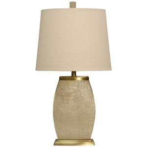 Scale Engraved & Brass Accented Table Lamp