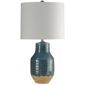 Prova Blue Dipped Ceramic Lamp