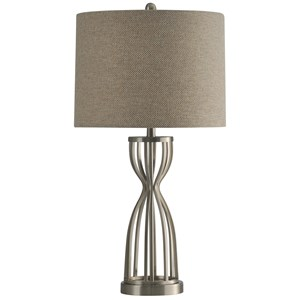Caged Base Metal Table Lamp