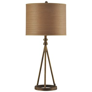 Transitional Iron Base Table Lamp