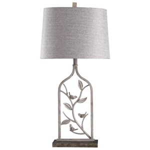 Steel and Poly Table Lamp