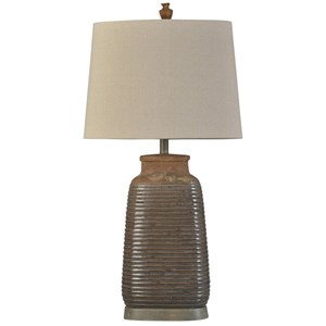Armond Brown Ceramic Lamp