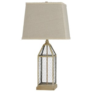Chicken Wire Table Lamp