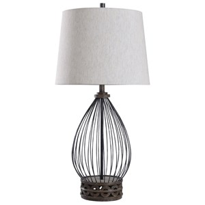 Filton Metal Wire Cage Lamp