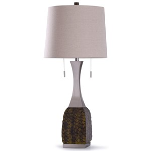 Straus Burg Steel and Croc Lamp