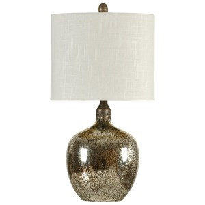 StyleCraft Lamps Antiqued Mirror Base Table Lamp