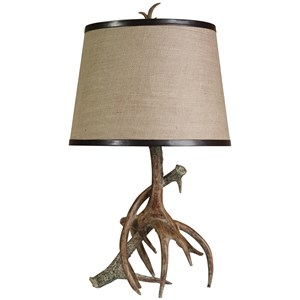 Faux Antler Table Lamp