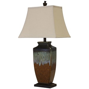 Reactive Glaze Ceramic Lamp
