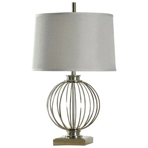 Transitional Polished Nickel Table Lamp