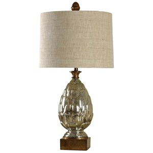 Transitional Mercury Glass Table Lamp
