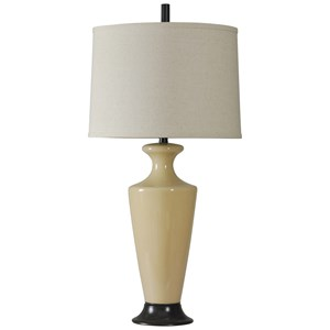 Beige Glass Lamp