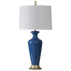 Navy Glass Lamp