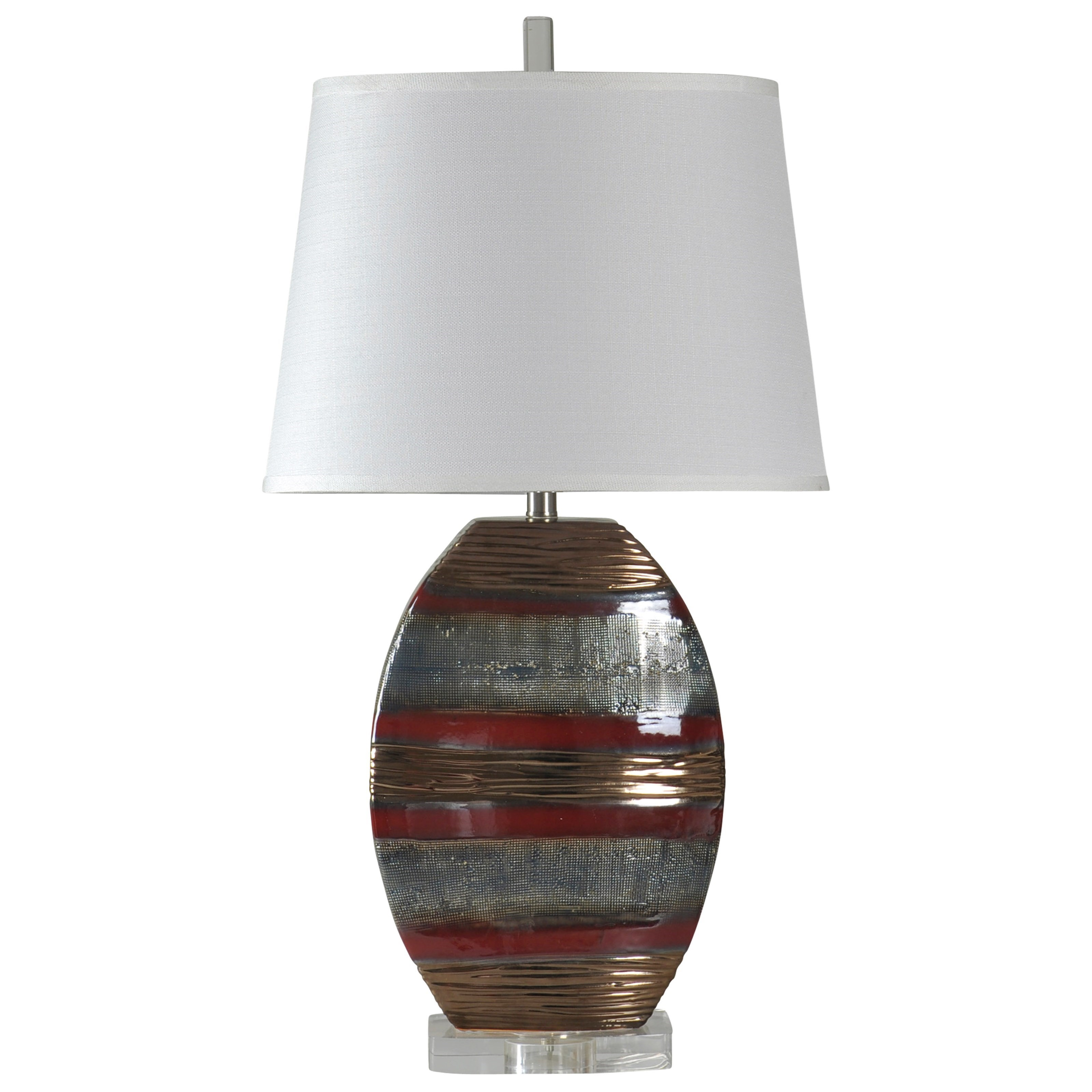 Earth Tone Ceramic Lamp